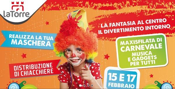 Il Carnevale dei bambini al Centro Commerciale La Torre