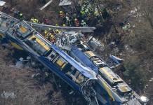 scontro fra treni in germania