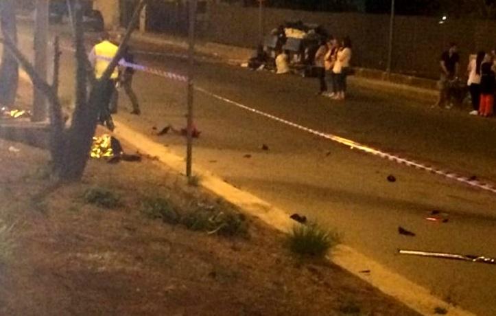 Palermo - Incidente stradale a Sferracavallo, due morti