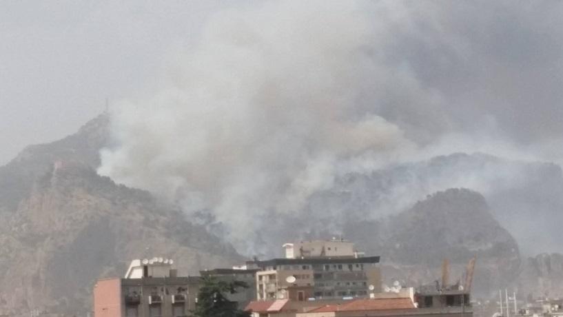 Monte pellegrino incendio: chiusi giardini pubblici Palermo COMMENTA