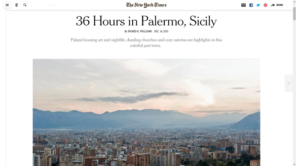 Weekend a Palermo, il New York Times elogia il capoluogo siciliano