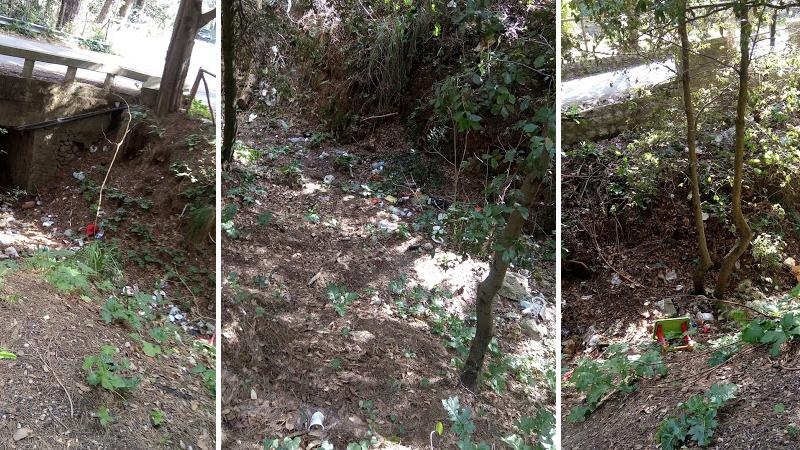 L'area attrezzata di San Martino sommersa dai rifiuti. Chiesto l'intervento del Comune