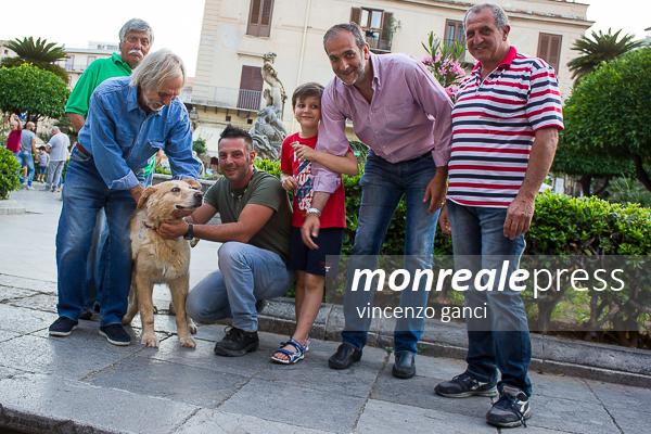Monreale, Leo torna in piazza, il primo cane randagio affidato al Comune