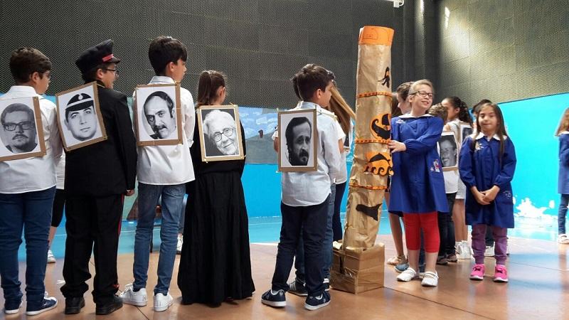 Colapesce, Falcone, Borsellino e Nino Di Matteo: la recita dei bambini della Veneziano di Aquino