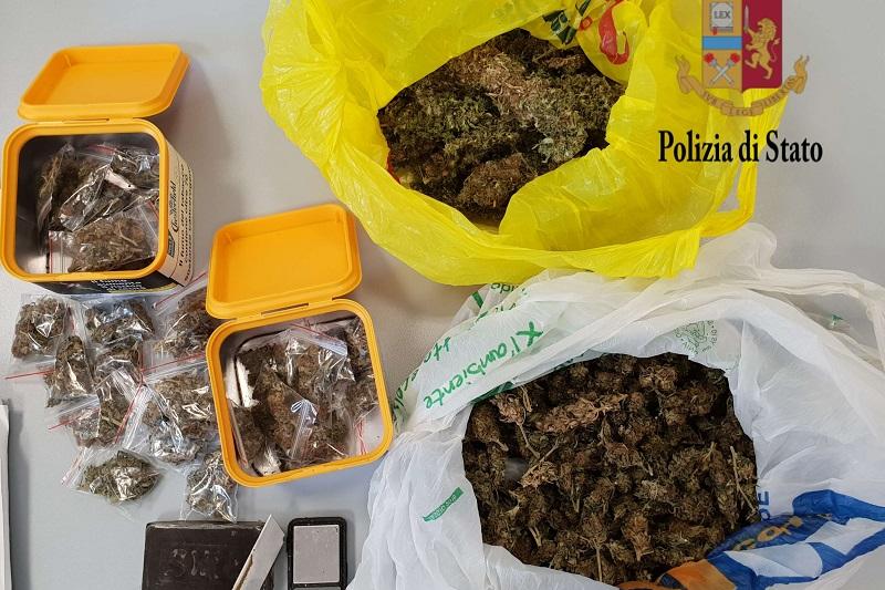 Sorpresi in casa con la droga pronta per essere venduta: in manette coppia di Partinico