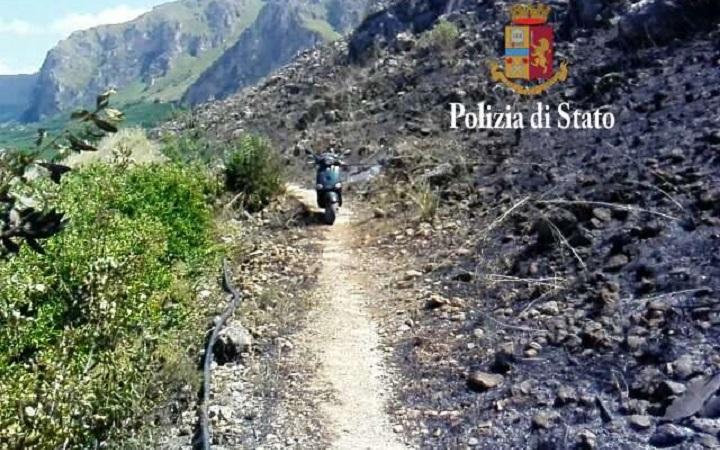 Palermo, appicca fuoco su monte Grifone: arrestato piromane