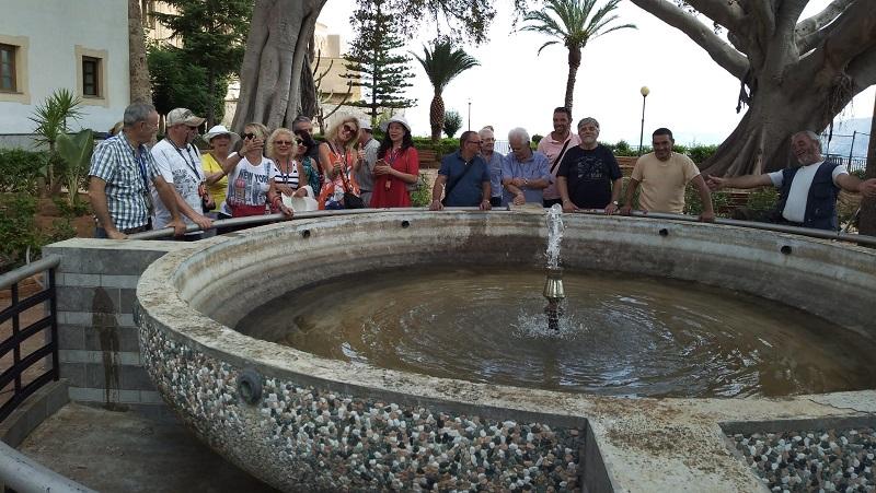 Torna in funzione la fontana del Belvedere della villa comunale a Monreale