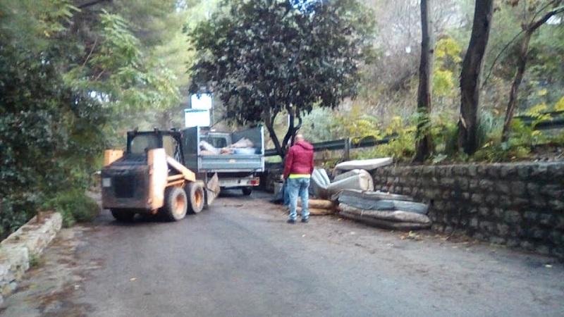 San Martino, ripuliti da rifiuti e ingombranti il bivio di piano Geli e contrada Rinazzo