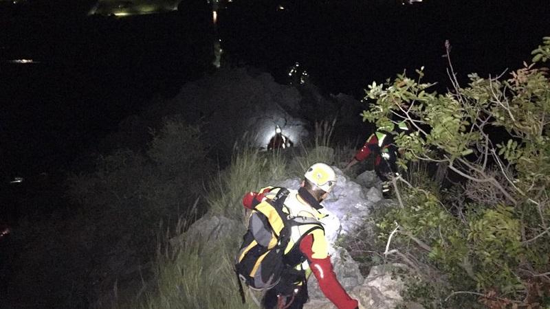 Alpinisti bloccati su Monte Pellegrino: intervento del soccorso alpino