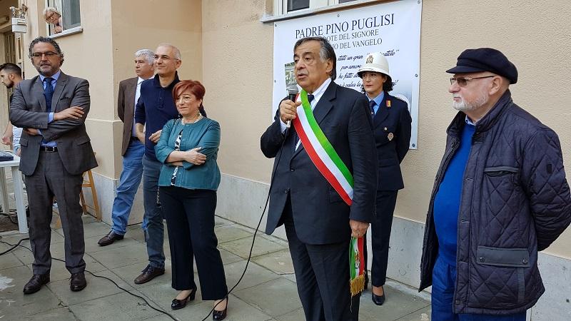 Palermo, tratto del piazzale Anita Garibaldi intitolato a Beato Padre Pino Puglisi