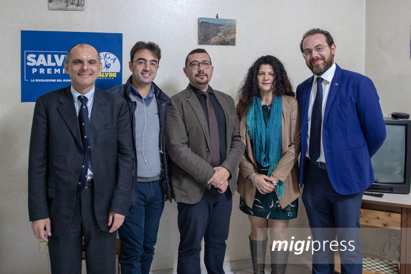 La Lega inaugura circolo a Pioppo: lista e candidato a sindaco. Ma non c'è Santo D'Alcamo
