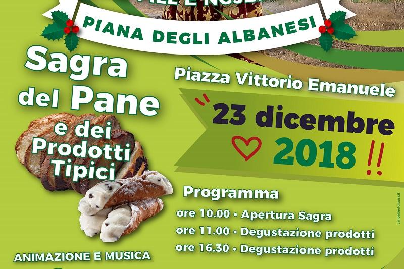 Piana degli Albanesi, al via la Sagra del Pane e dei prodotti tipici