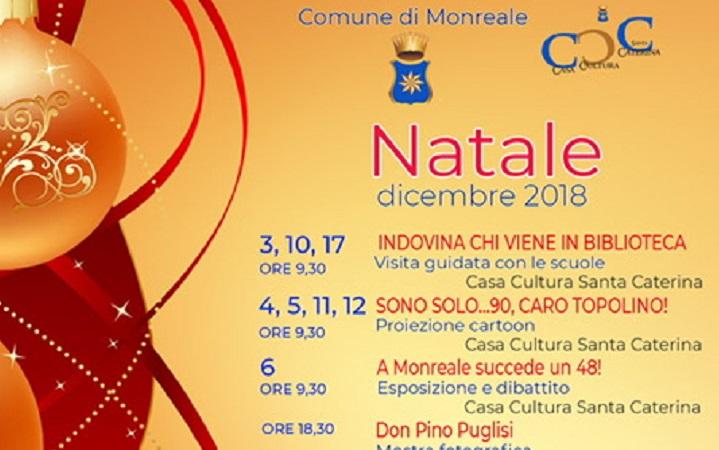 Natale a Monreale, mostre, arte e cultura: il calendario completo degli eventi