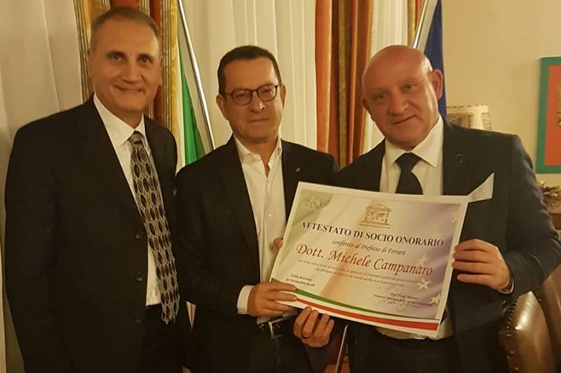 Da Monreale a Ferrara, il Parlamento della Legalità nomina socio il Prefetto Michele Campanaro