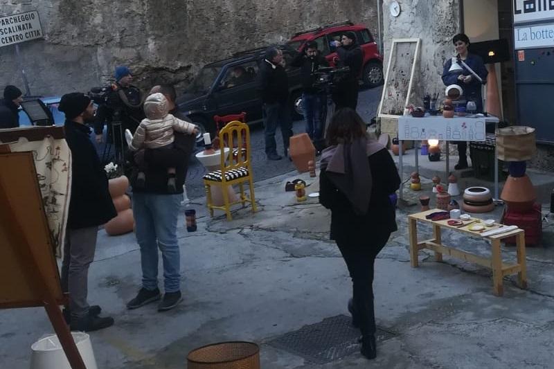 Le bellezze della città, le botteghe degli artigiani: la Rai a Monreale per delle riprese