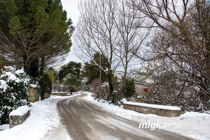 Monreale, torna il freddo: neve nelle zone montane
