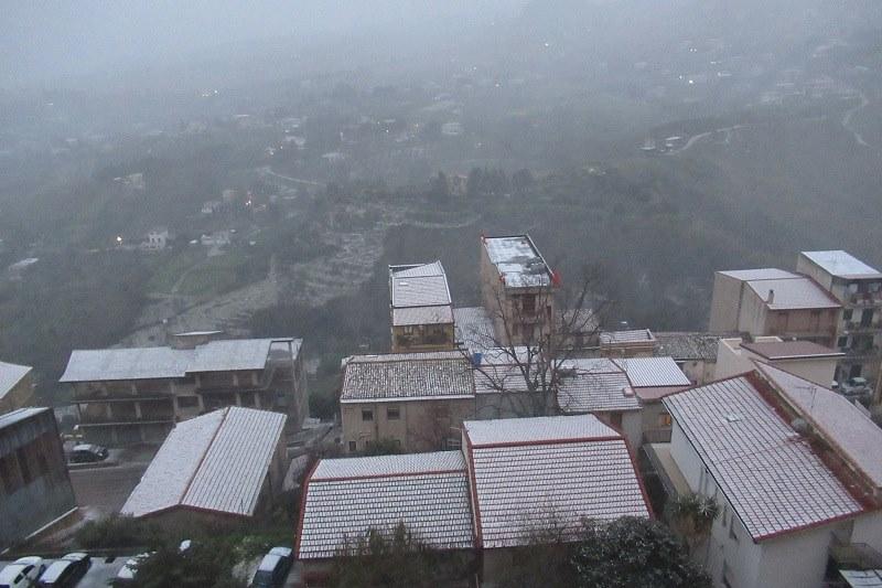 Arriva la neve: Pioppo, Giacalone, Poggio e San Martino imbiancate