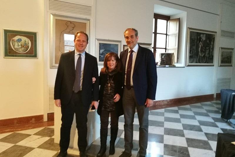 Le sculture di Liliana Vaglica al Complesso Guglielmo: vernissage con il sindaco Capizzi