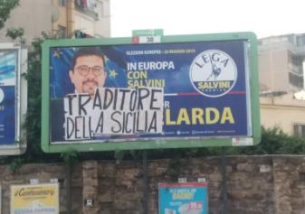 """""""Traditore della Sicilia"""", il messaggio a Gelarda sul manifesto della Lega"""