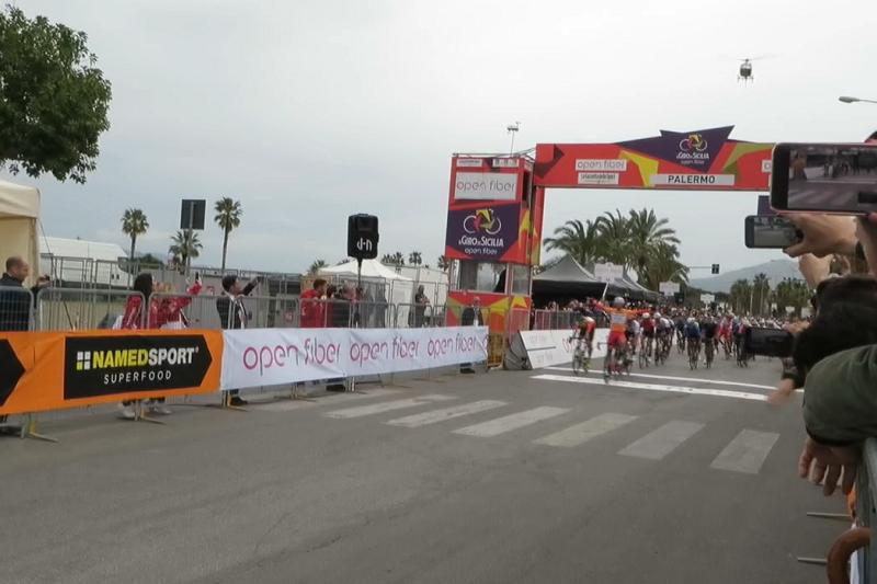 Giro di Sicilia, in volata Manuel Belletti conquista tappa e Maglia Rossa