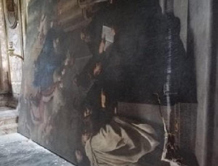 Squarcio nella tela di Pietro Novelli: il quadro attende il restauro da mesi