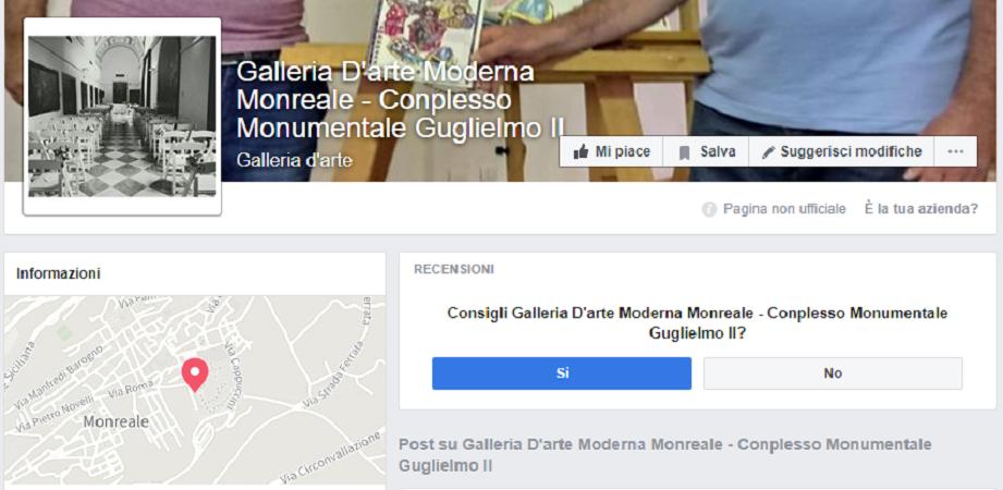"""Complesso diventa """"conplesso"""": strafalcione sulla pagina Facebook della Galleria Guglielmo"""