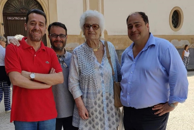 """Liliana Segre in visita a Monreale: """"Che fascino il Duomo e il Chiostro"""""""