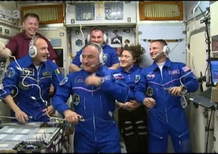 Luca Parmitano è a bordo della Stazione Spaziale