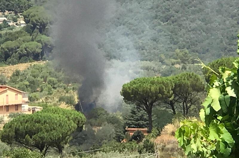 Ancora fuoco a San Martino: brucia Monte Petroso