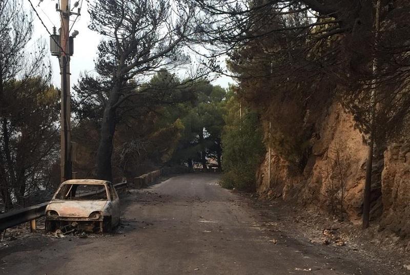 Via Regione siciliana, limite a 30 chilometri orari nella zona dell'incendio