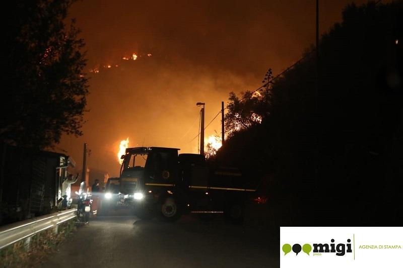 Incendi a San Martino, la Regione metterà in sicurezza il costone roccioso
