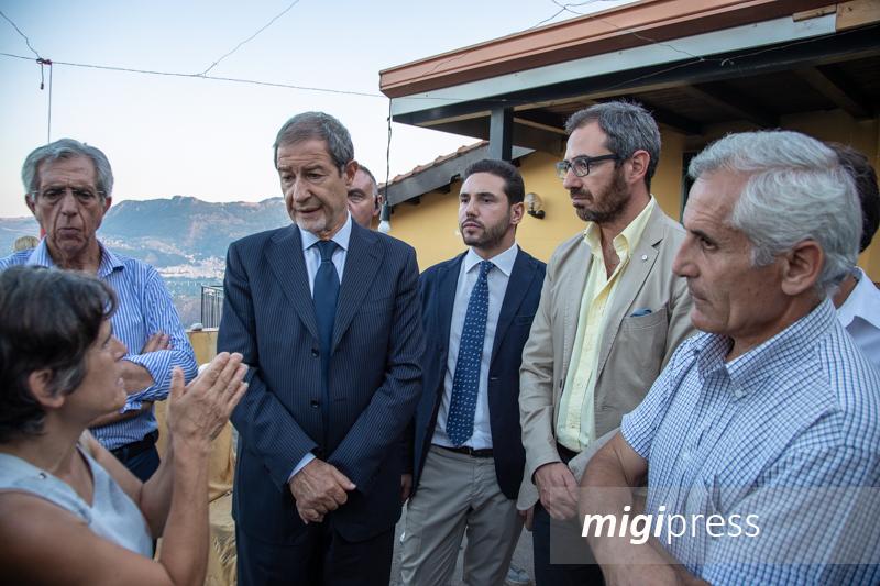 """Il presidente Musumeci a San Martino: """"I criminali non vinceranno"""""""