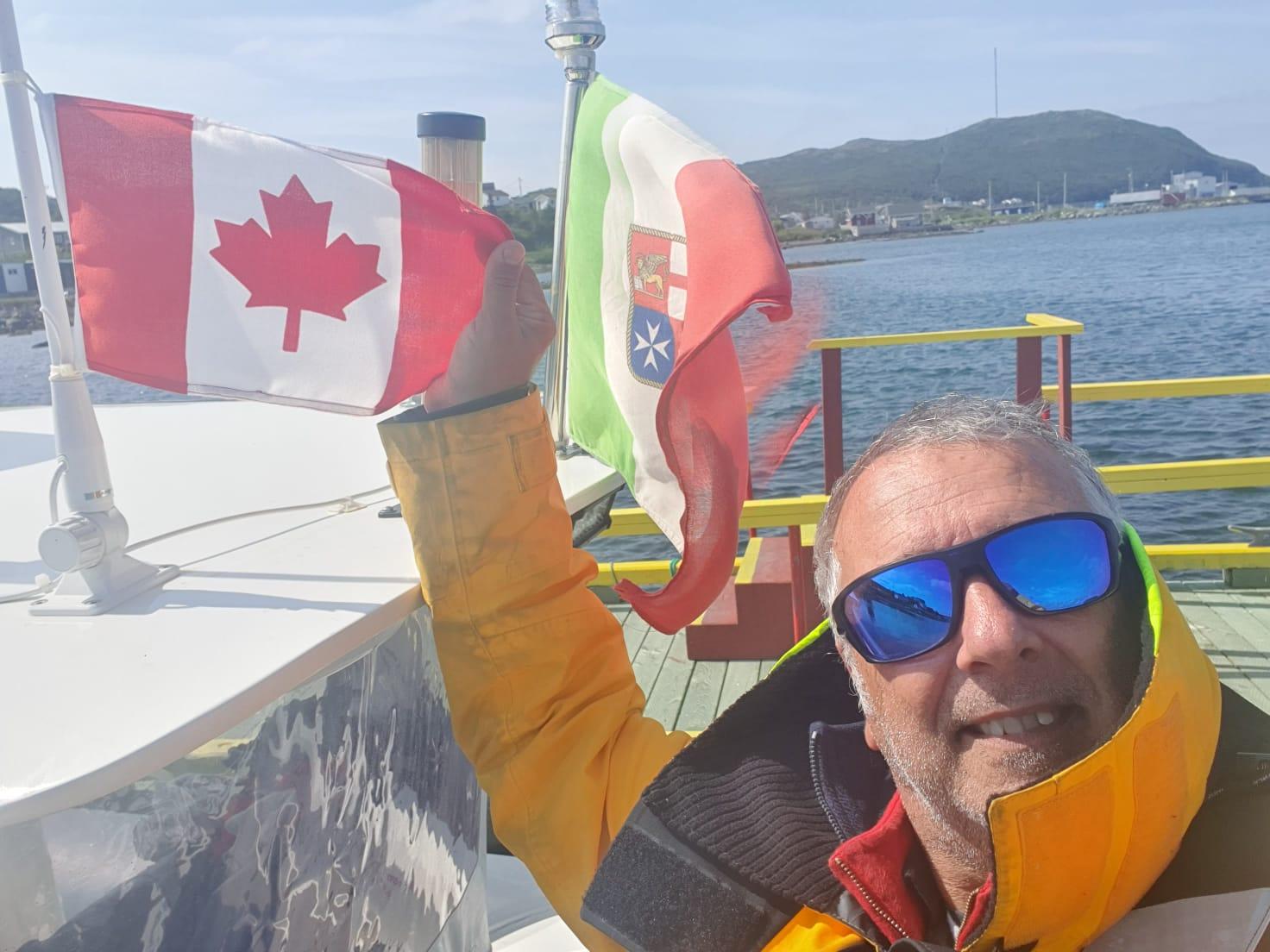 Da Palermo a New York in gommone: il monrealese Sergio Davì in Canada