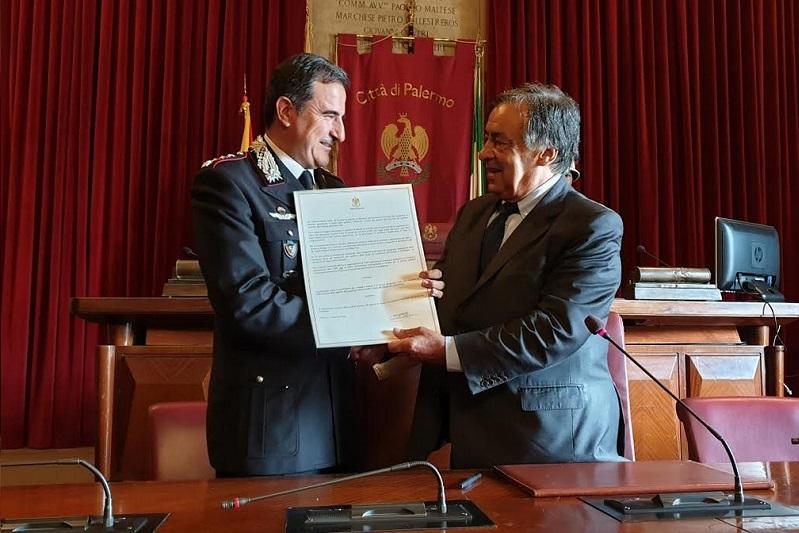 Al colonnello Antonio Di Stasio la cittadinanza onoraria di Palermo