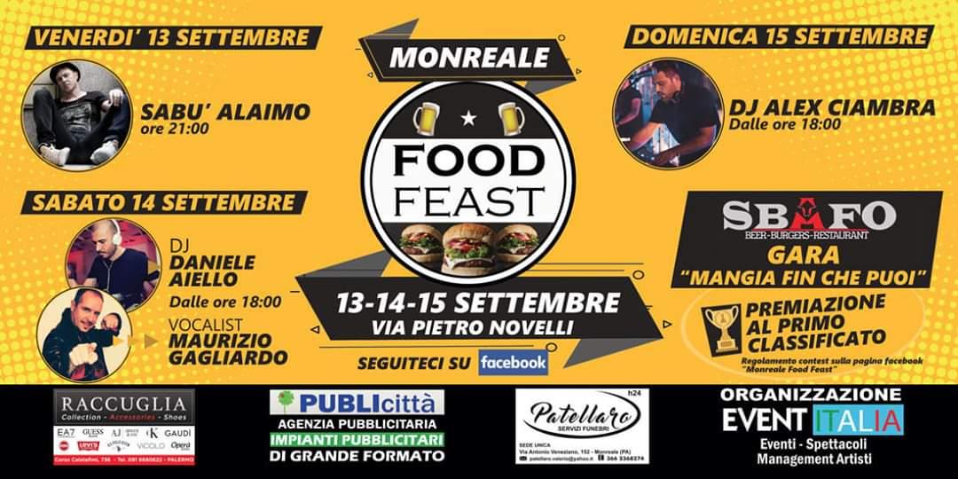 Monreale Food Feast, oggi il taglio del nastro con il sindaco Arcidiacono
