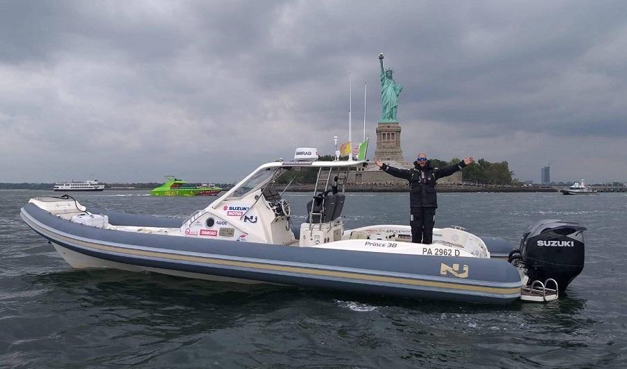 Il monrealese Sergio Davì è a New York: l'impresa è compiuta