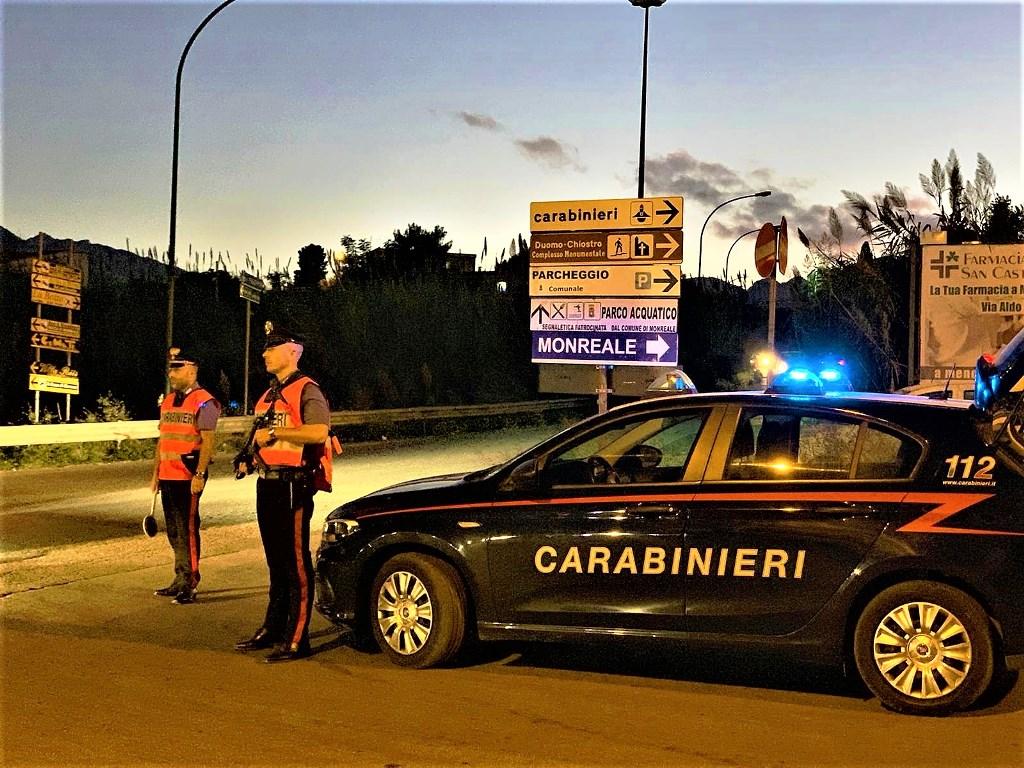 Controlli dei carabinieri a Monreale, un arresto e una denuncia