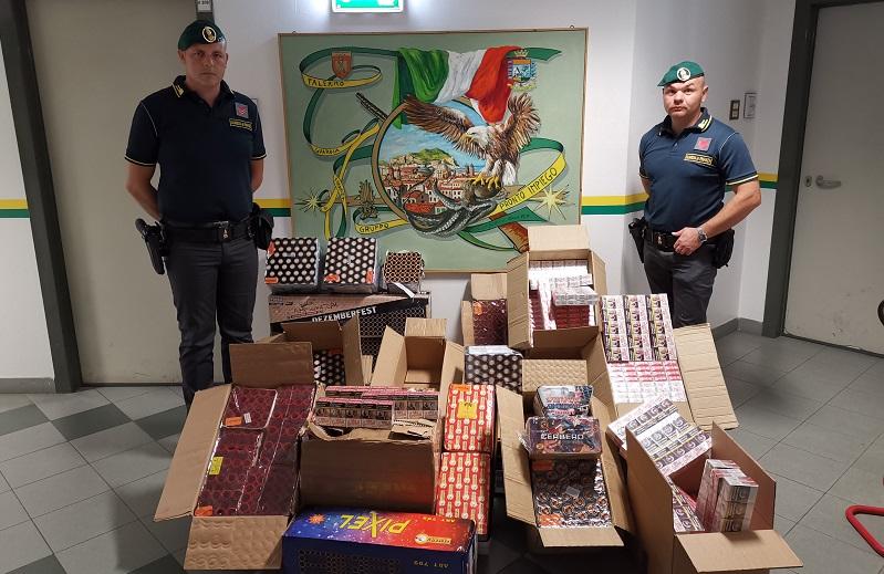 Maxi sequestro di botti illegali: oltre 3 quintali. Tre le persone denunciate