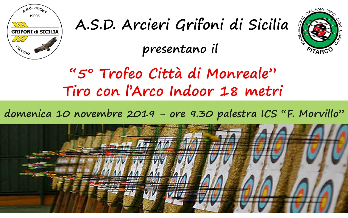 Trofeo Città di Monreale di Tiro con l'arco, oggi in scena alla Morvillo