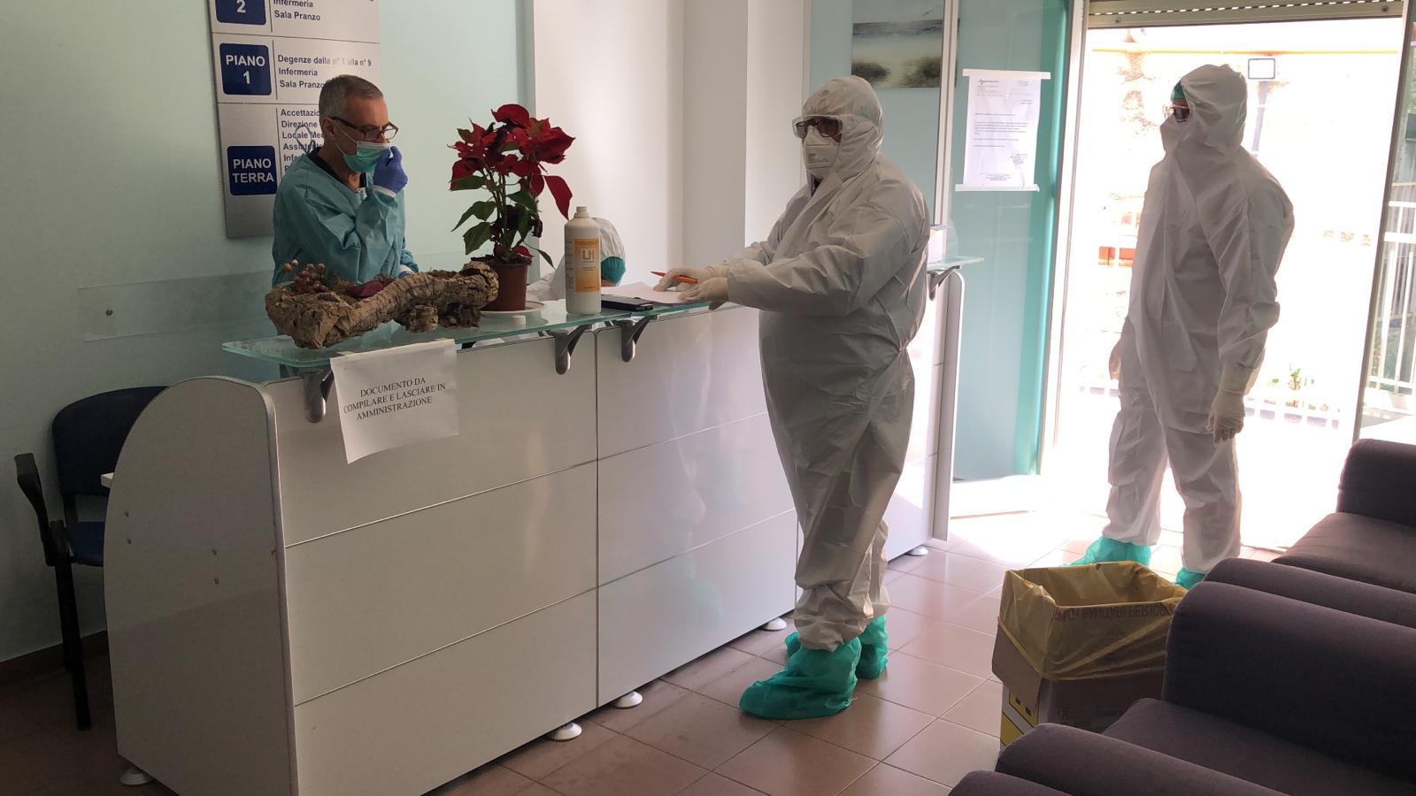 Negativi i test e i tamponi effettuati nelle Rsa Bonifato e Molara