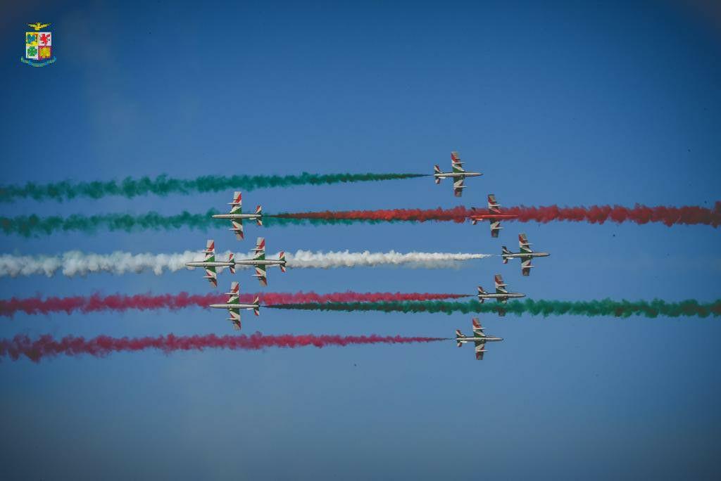 Da Milano e Codogno a Palermo, partito il Giro d'Italia delle Frecce Tricolore