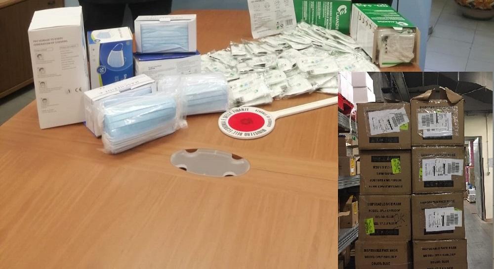 Prive del marchio Ce e delle informazioni di sicurezza: sequestrate oltre 75 mila mascherine