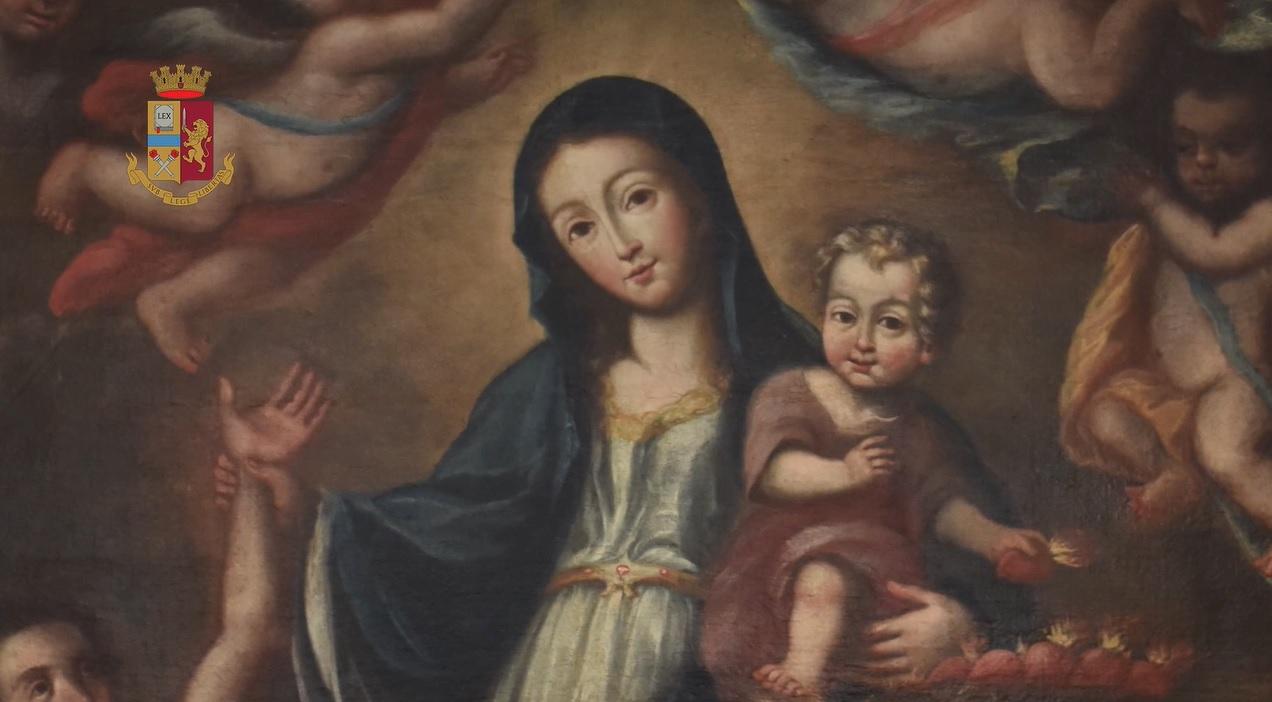 Recuperata tela del XVIII secolo rubata: oggi la consegna a monsignor Pennisi