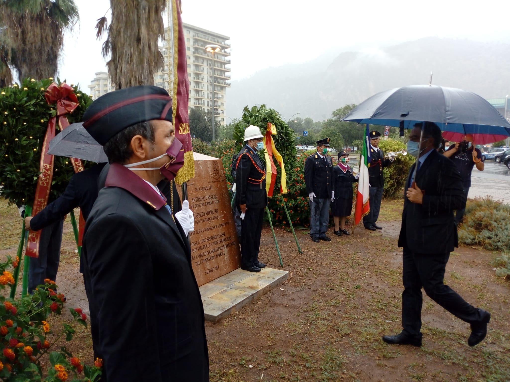 """Palermo ricorda Cassarà e Antiochia: """"Figure simbolo della lotta alla mafia"""""""