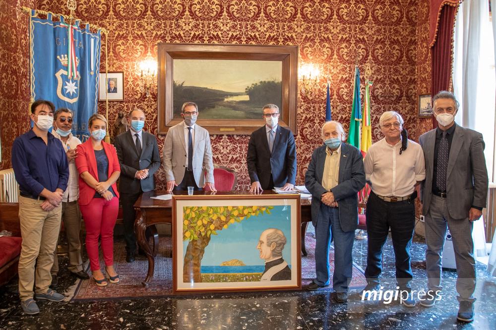 Il maestro Madè dona l'opera su Padre Pino Puglisi a Monreale