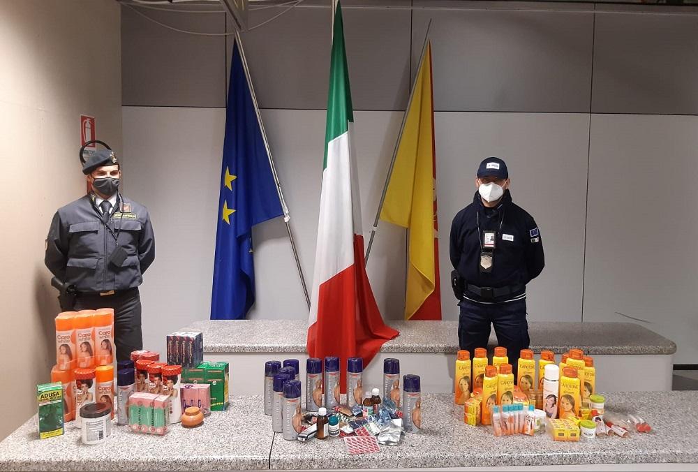 Farmaci e cosmetici africani pericolosi per la salute: sequestro in aeroporto