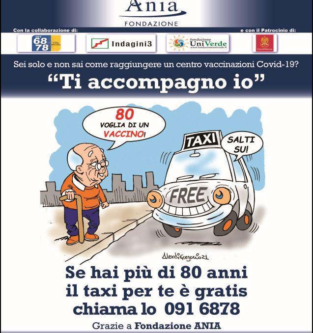 A Palermo taxi gratis per over 80 che vanno nei centri di vaccinazione